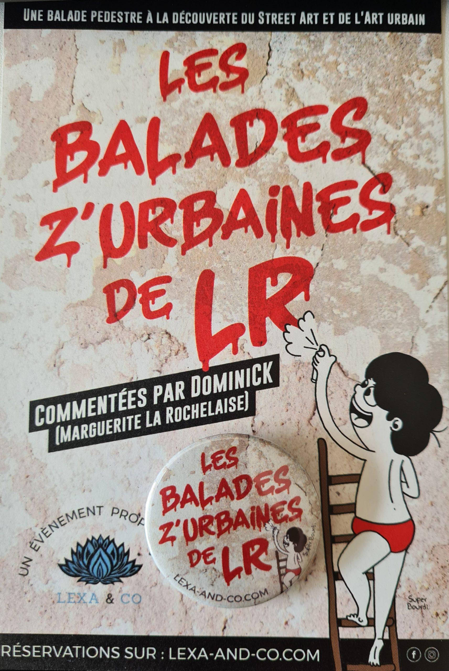 badge les balades z'urbaines de LR - Bobby de Superbourdi