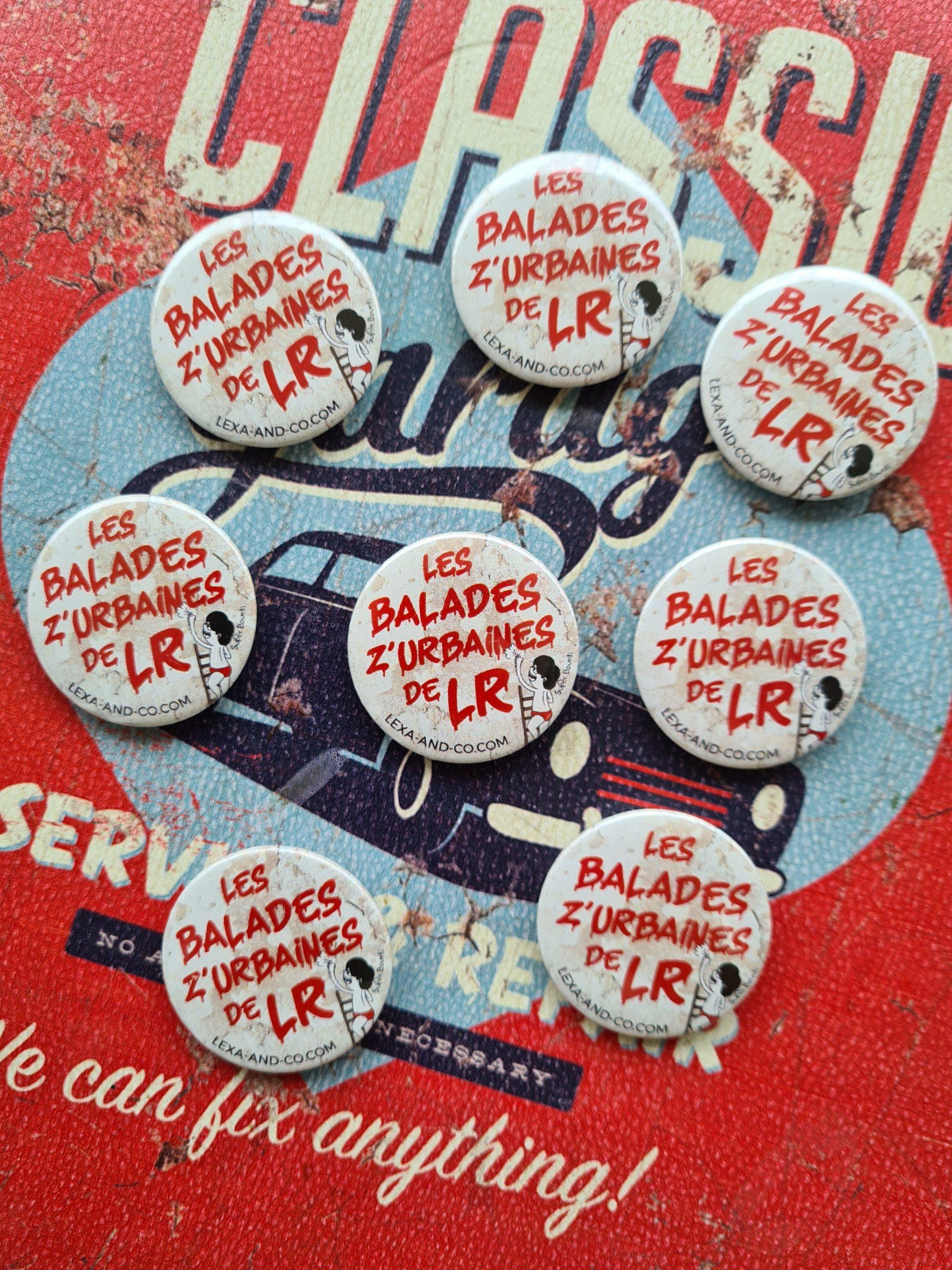 badges les balades z'urbaines de LR by Superbourdi